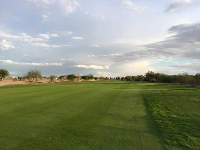 A view of a fairway from Coyote Wash Golf Course.