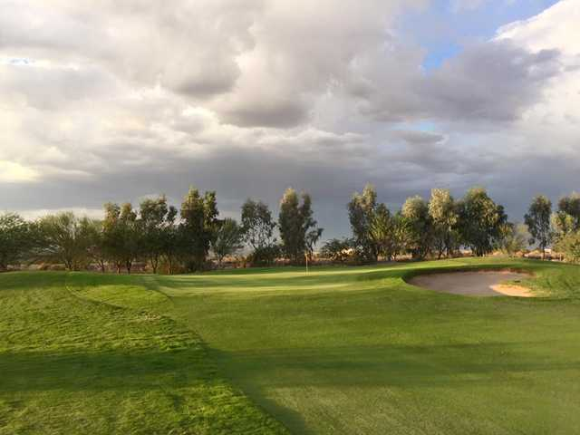 A view of a hole from Coyote Wash Golf Course.