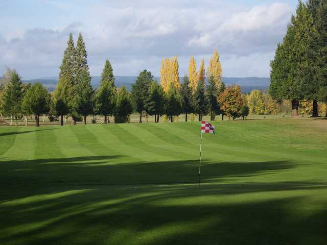 A view of a green at Sunset Grove Golf.