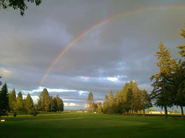 A view of the 7th hole at Sunset Grove Golf.