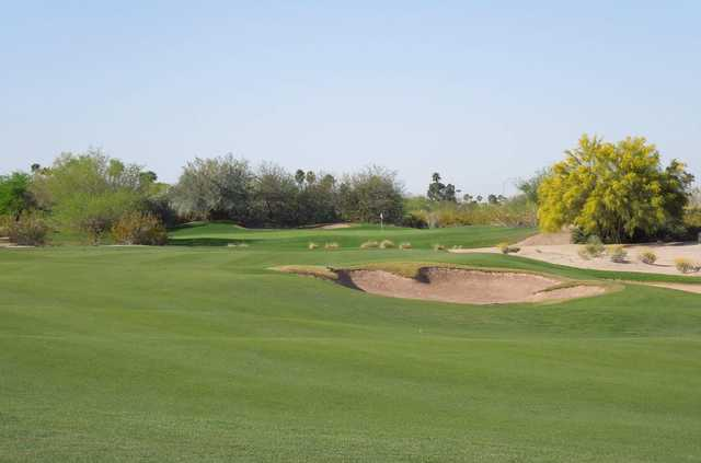 A view of a hole at Longbow Golf Club.