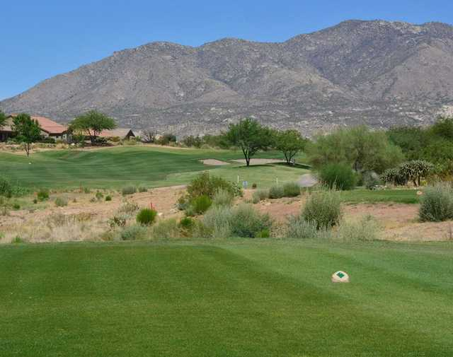 A view from a tee at Preserve Golf Course.