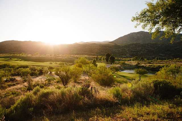 A sunny day view from Preserve Golf Course.