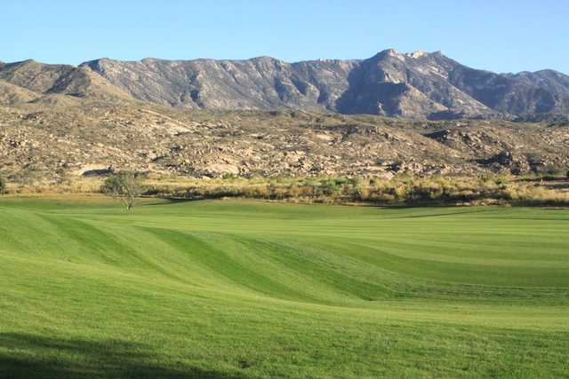 A view of a fairway at Preserve Golf Course.