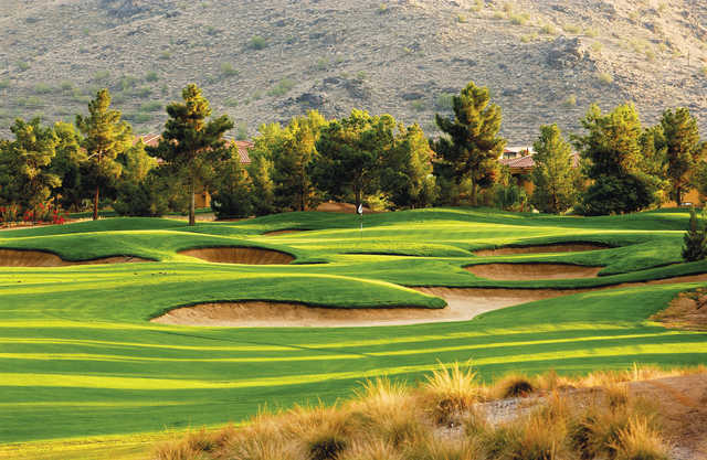 A view of a well protected hole at Raven Golf Club - Phoenix.