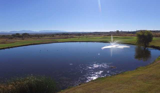A view over the water from San Pedro Golf Course.