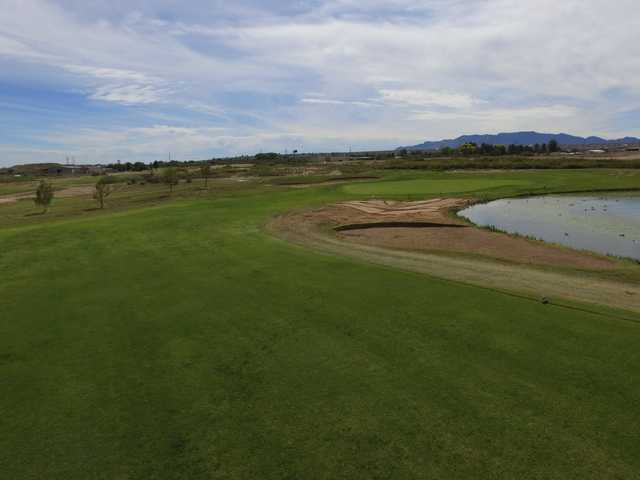 A view of the 18th hole at San Pedro Golf Course.