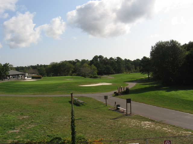 View of the 9th hole at Cedar Creek Golf Course