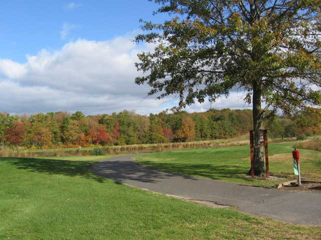 View of the 13th tee box at Cedar Creek Golf Course
