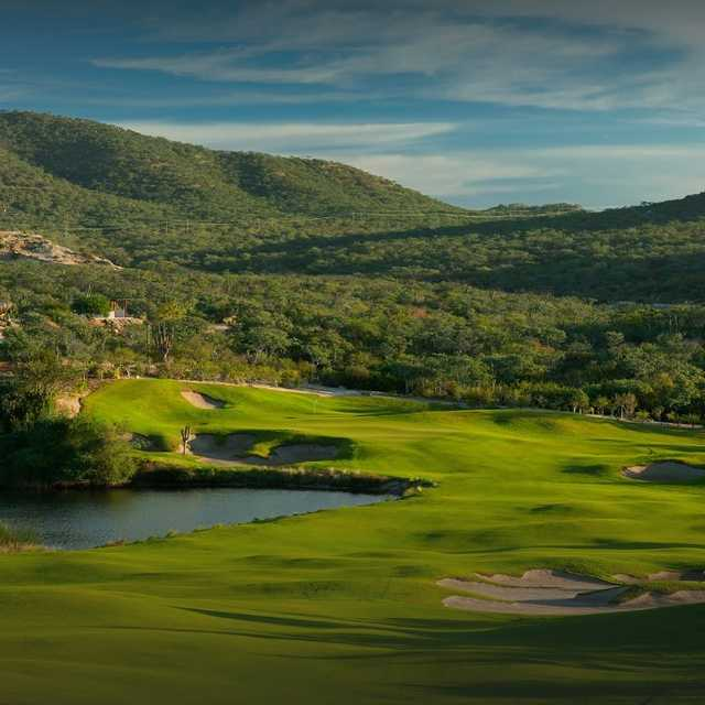 View of the 9th green fromthe Nicklaus I course at Puerto Los Cabos Golf Club