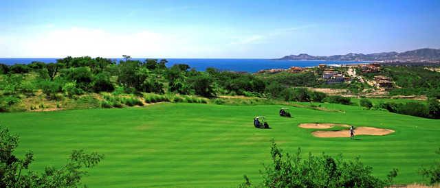 View of a green at Puerto Los Cabos Golf Club