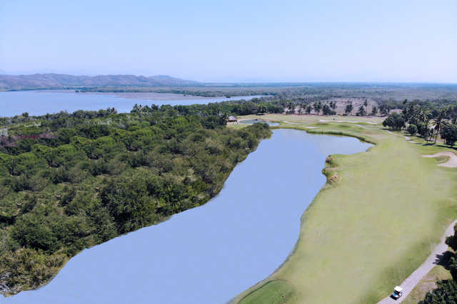 View of the 5th hole from The Lagoon Golf Course at Isla Navidad Country Club
