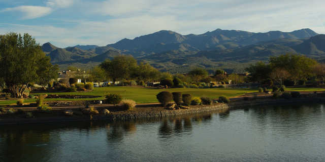 A view over the water from Tonto Verde Golf Club.