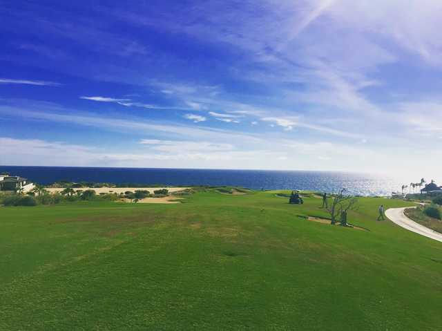 A view of the 7th hole at Norman from Puerto Los Cabos Golf Club.