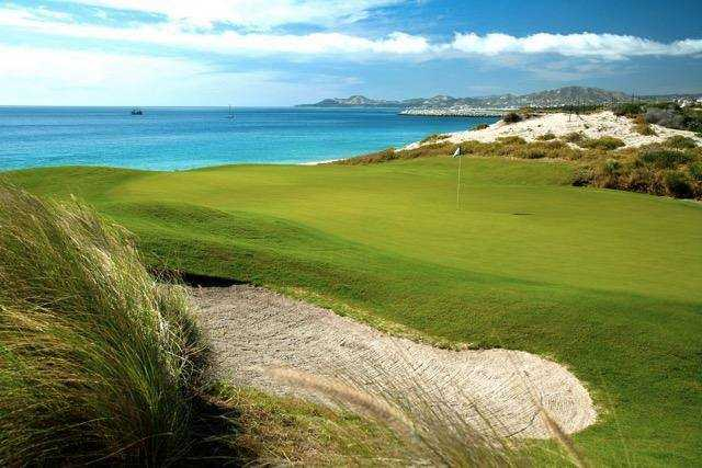 A view of a green at Puerto Los Cabos Golf Club.