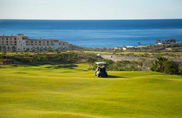 A sunny day view from Puerto Los Cabos Golf Club.