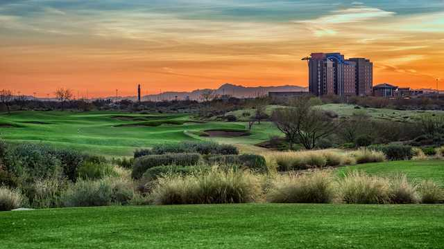 A sunset view from Whirlwind Golf Club.