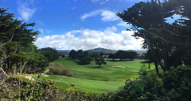 View from #16 on the Old Course at Half Moon Bay Golf Links.