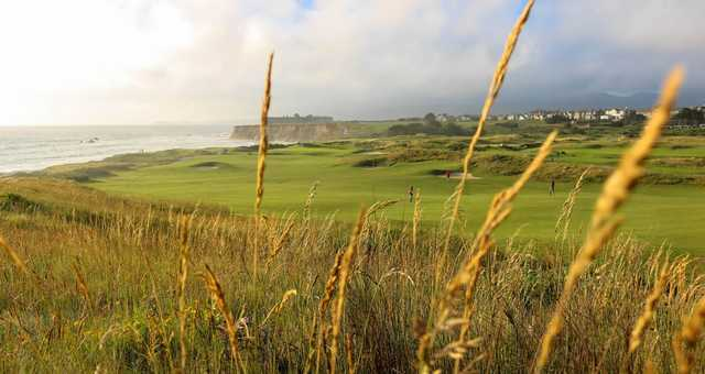 A view of a fairway at Half Moon Bay Golf Links.