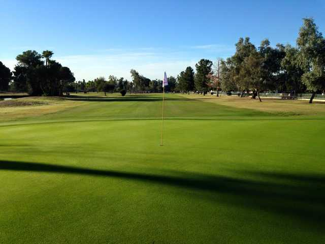A view of a hole at Palo Verde Golf Course.
