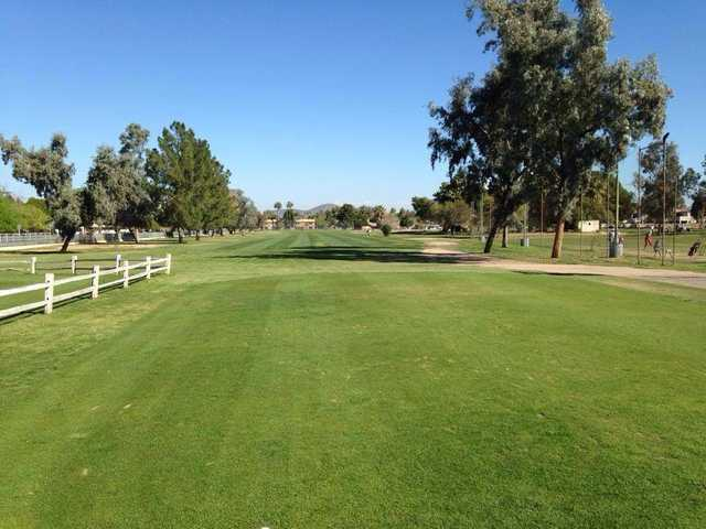 A sunny day view from Palo Verde Golf Course.