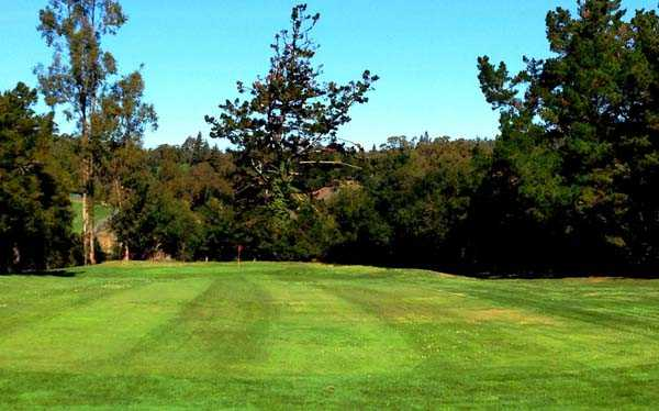 A view from the 9th fairway at Short from Lake Chabot Municipal Golf Course