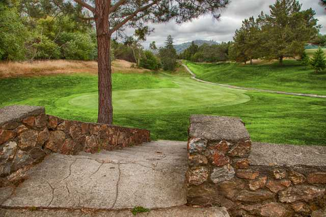 A view of a green at Lake Chabot Golf Course.