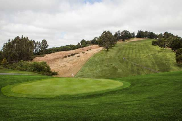 A view of a green from Lake Chabot Golf Course.