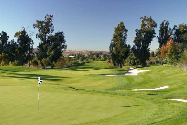 A view of a hole at Oak Creek Golf Club.