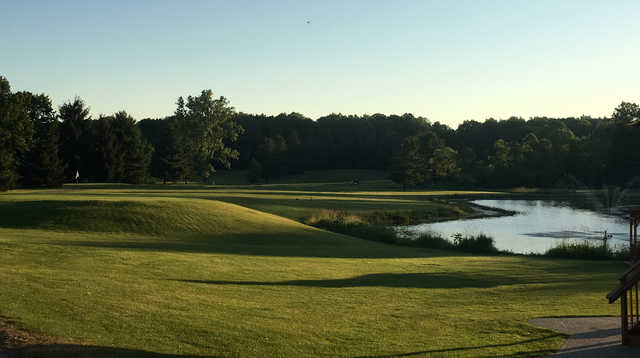 View of the 9th hole at Rolling Meadows Country Club