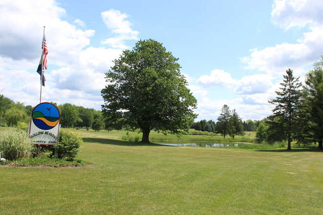 A sunny day view from Rolling Meadows Country Club.