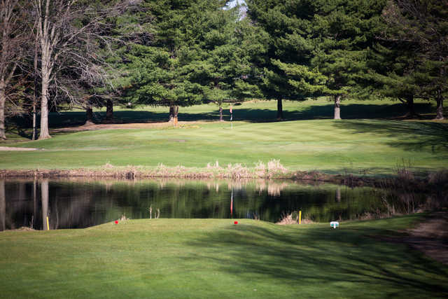 A view from a tee at Rolling Meadows Country Club.
