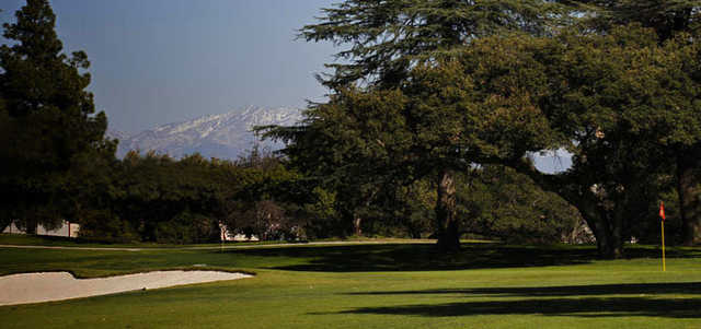 A view of a green at Santa Anita Golf Course.