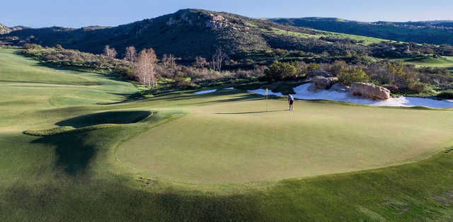 A view of a green at Shady Canyon Golf Club.