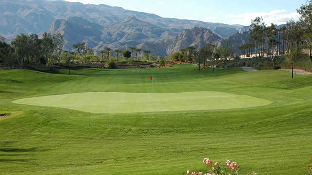 A view of a green from Coral Mountain Golf Club.