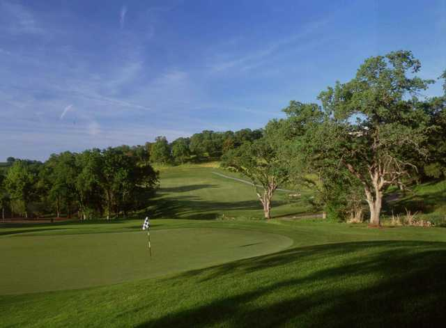 A view of hole #12 at Whitney Oaks Golf Club.