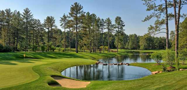 A view of a hole at Castle Pines Golf Club.