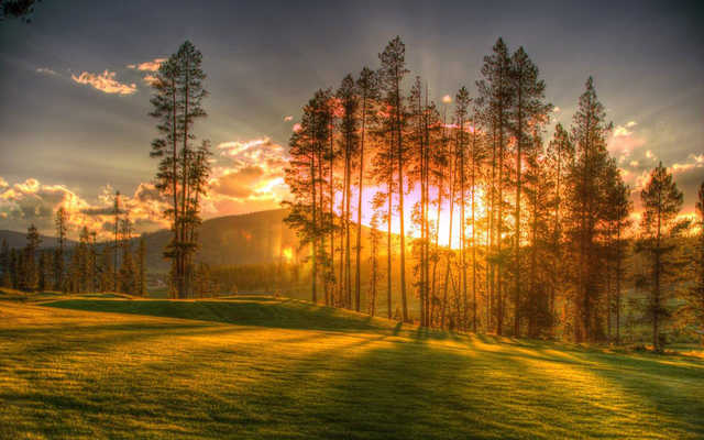 A sunset view from Pole Creek Golf Club.