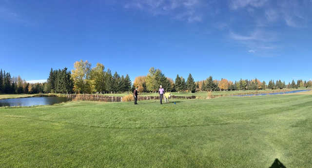 A view of a tee at Edson Golf and Country Club.