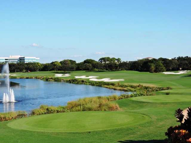 A view from the 17th tee at Old Course from Broken Sound Club.