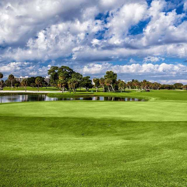 A sunny day view from Longboat Key Club & Resort.