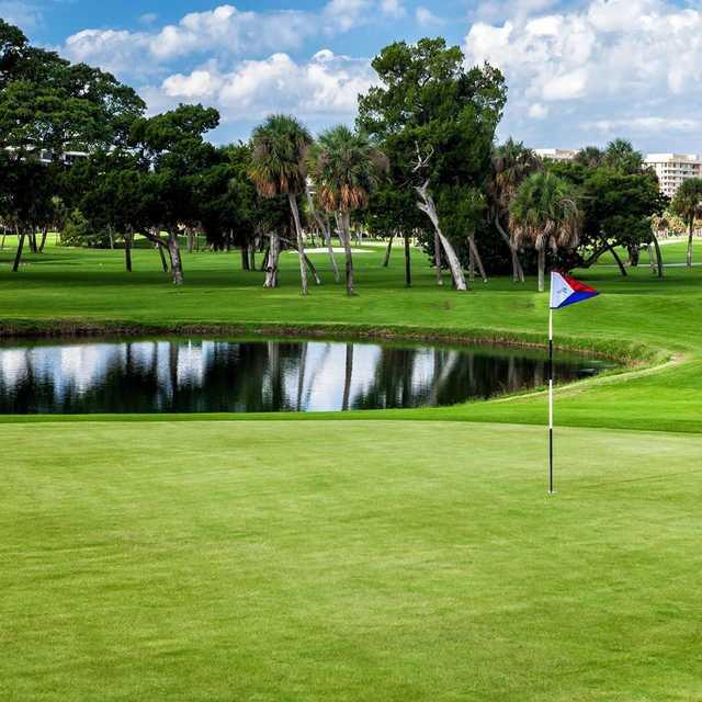 A view of a green at Longboat Key Club & Resort.