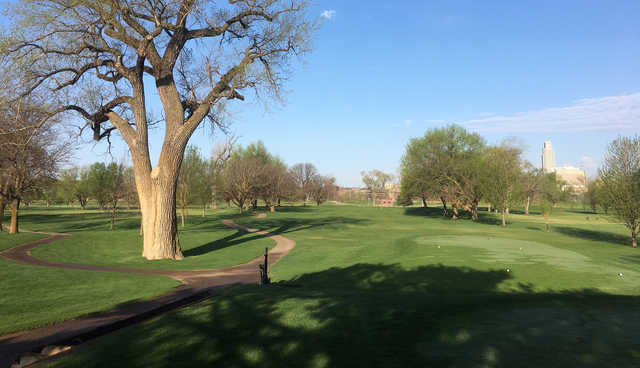 A view from Dodge Riverside Golf Club.