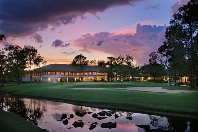 A view of the clubhouse and a green at Quail Creek Country Club.