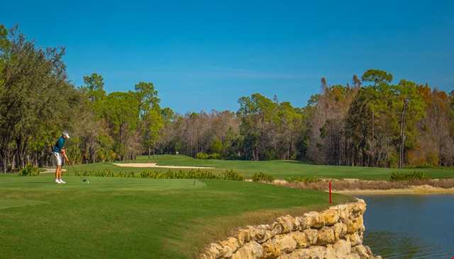 A view of a tee at Lakes from Quail West Golf & Country Club.