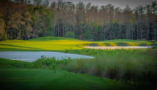 A view from a tee at Preserve from Quail West Golf & Country Club.