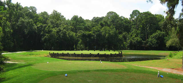 A view from a tee at River Ridge Golf Club.