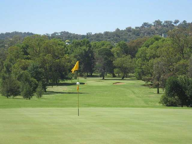 View from the 9th green at Cowra Golf Club