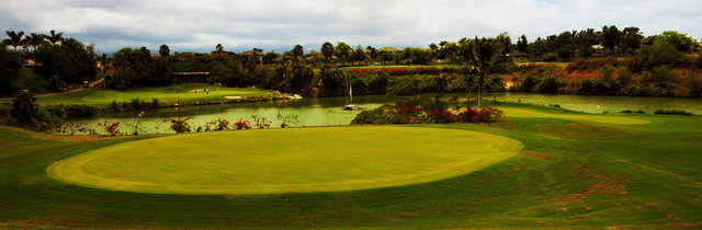 A view of a green at Coral Creek Golf Course.