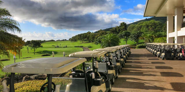 A view from the clubhouse at Kahili Golf Course.
